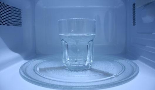 Água e microondas