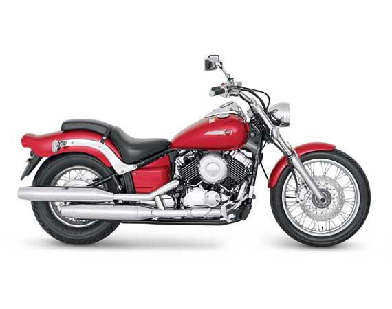 Drag Star 650 vermelha