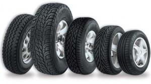 Diversos tipos de pneus