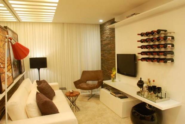 decorar sala branca:Salas Decoradas Pequenas