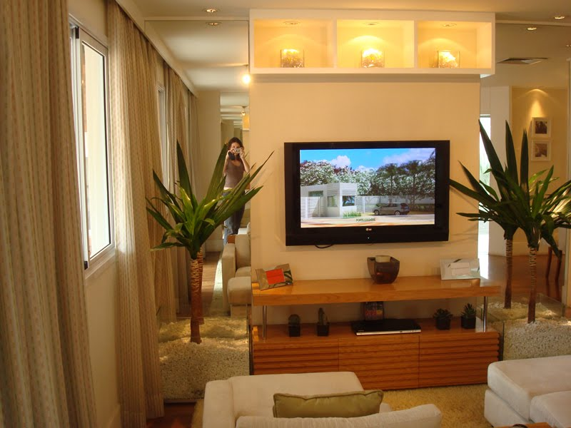 Salas pequenas decoradas dicas e modelos for Modelos de sala de casa