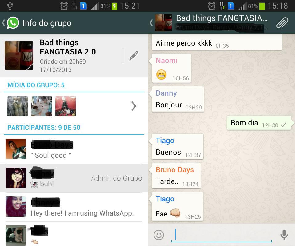 os grupos do whatsapp são um recurso do aplicativo