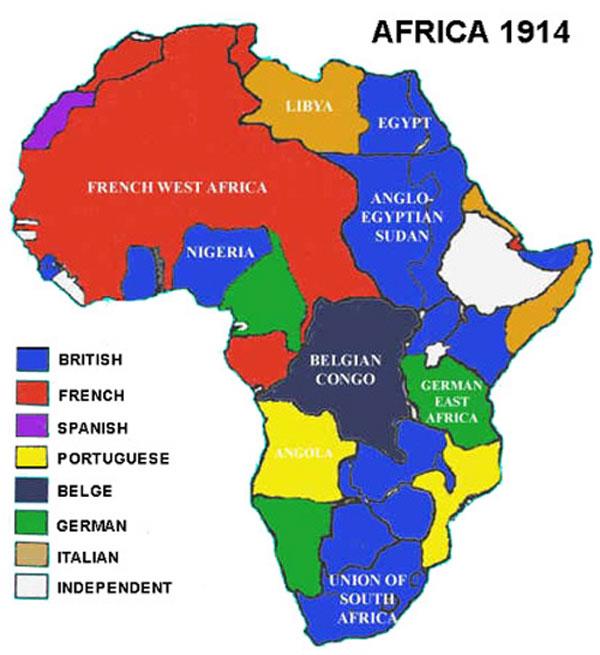 partilha do continente africano