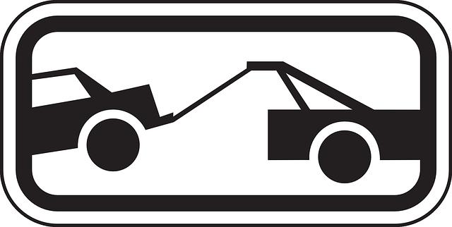 Veículo sendo rebocado