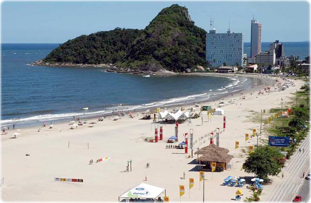 Praia de Caiobá localizada na cidade de Matinhos próximo a Curitiba