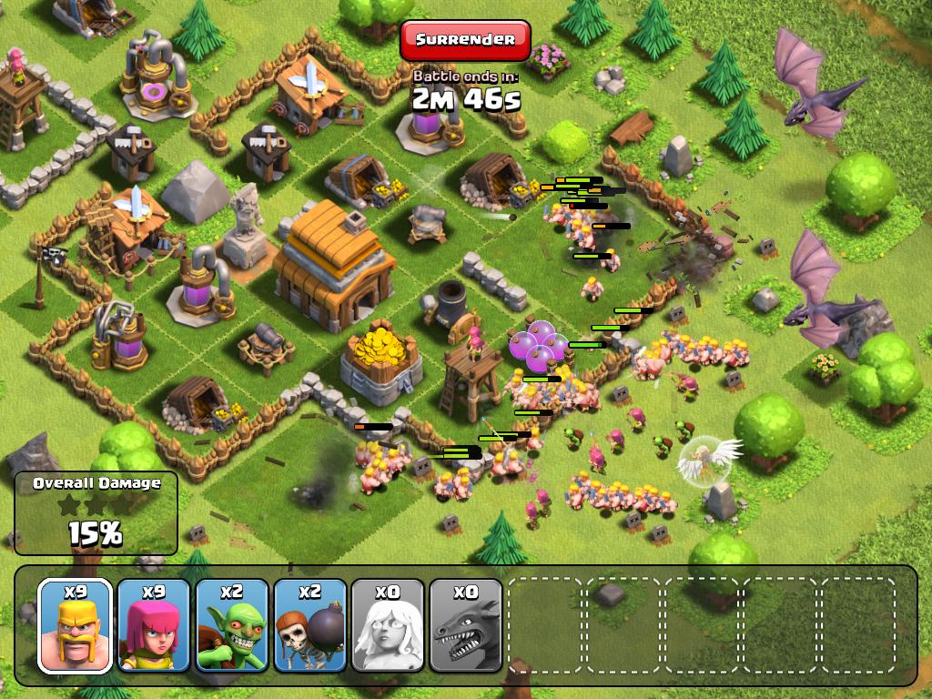 ataques de clash of clans