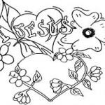 Desenho de Jesus para Colorir