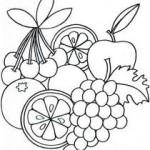 Frutas para colorir