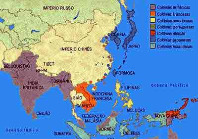 partilha do continente asiatico