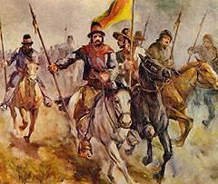 Quadro ilustrando tropas farroupilhas.