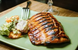 salmão assado